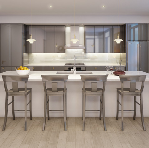 Harbor Verandas Apartment Kitchen