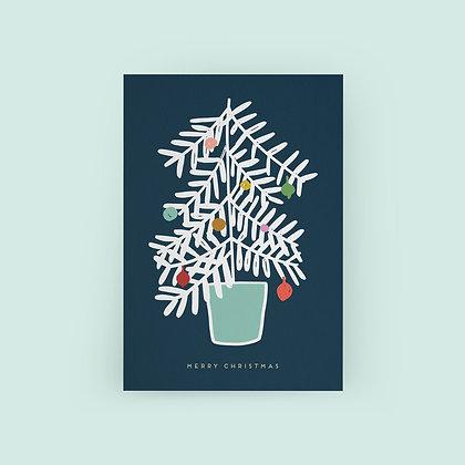 Typoriginal x Fossdesign Blue Christmas Card Weihnachtskarte Karte