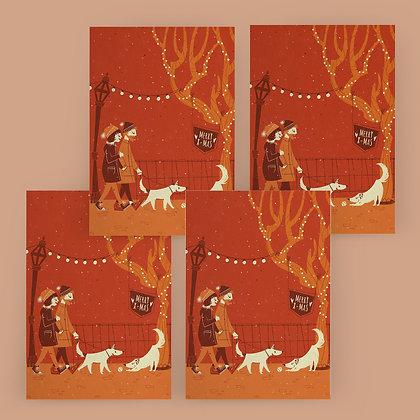 """""""Wintery Evening Walk"""" Card Set"""