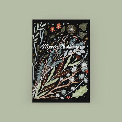 Typoriginal x Boccaccini Meadows Black Botanicals Grußkarte Greeting Card