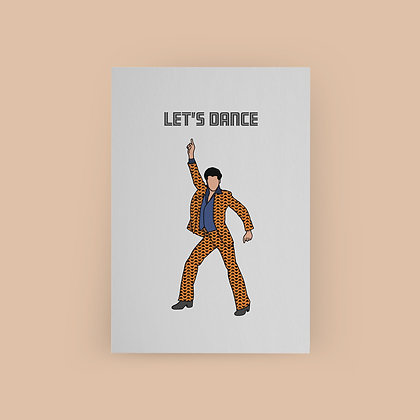 Typoriginal x Roopdraws Let's Dance Grußkarte Greeting Card Saturday Night Fever