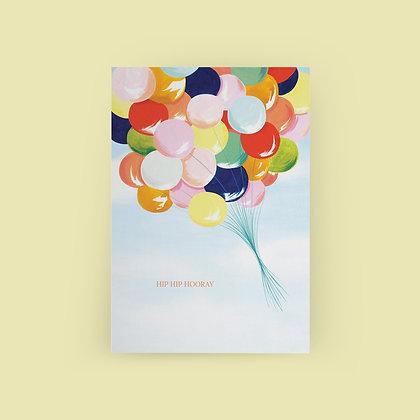 Typoriginal x Sarah Wilkins Hip Hip Hooray Grußkarte Greeting Card
