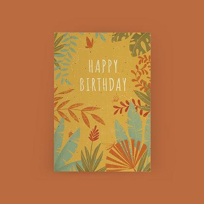 """""""Leafy Birthday"""" Card"""