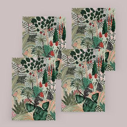 """Tropical Jungle"" Card Set"