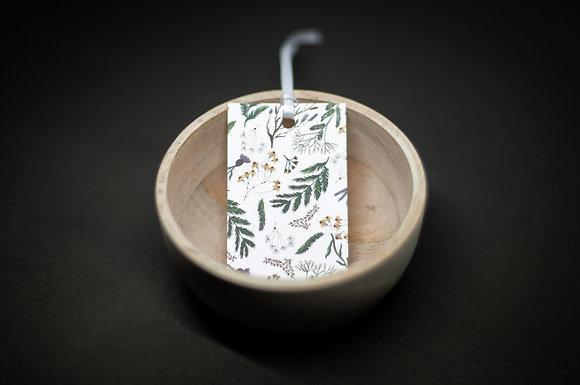 Typoriginal x Boccaccini Meadows White Botanical Geschenkanhänger Gift Tag
