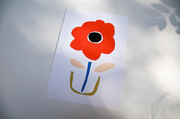 """Nordic Flower"" Print"