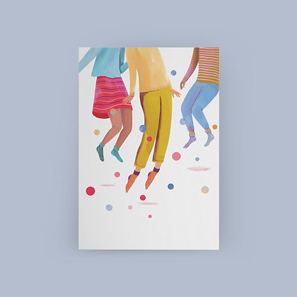 Typoriginal x Sarah Wilkins Party People Grußkarte Greeting Card