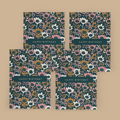 """""""Flower Meadow"""" Card Set"""