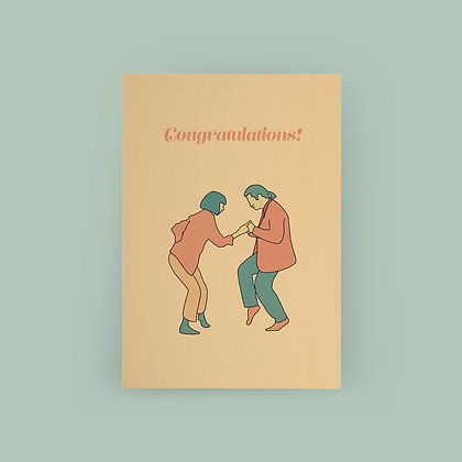 Typoriginal x Roopdraws Congratulations Grußkarte Greeting Card Pulp Fiction