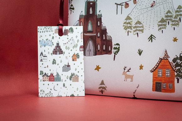 Typoriginal x Boccaccini Meadows Ski Holiday Geschenkanhänger Gift Tag Weihnachten Christmas