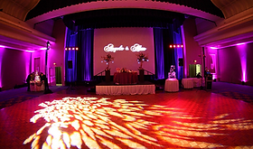 Portland Oregon DJ Lighting Up-Lighting Monogram Gobo Slide Show Projection
