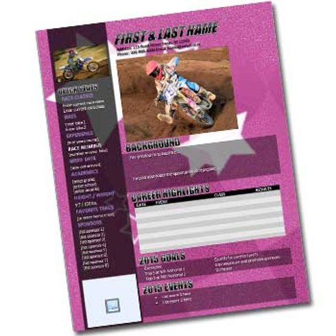 Motocross Resume Template Design 4