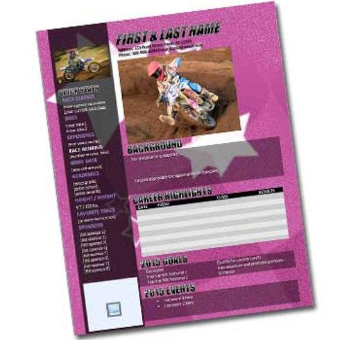 Motocross Resume Template Design 4
