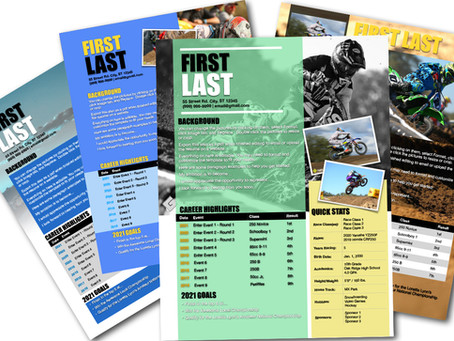 We Now Offer Pages Motocross Resume Templates for Mac Users!
