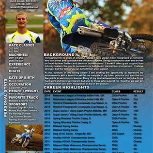 Resume for Motocross Racing