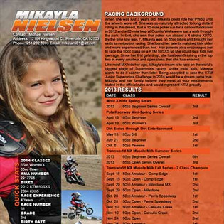 Amateur Motocross Resume