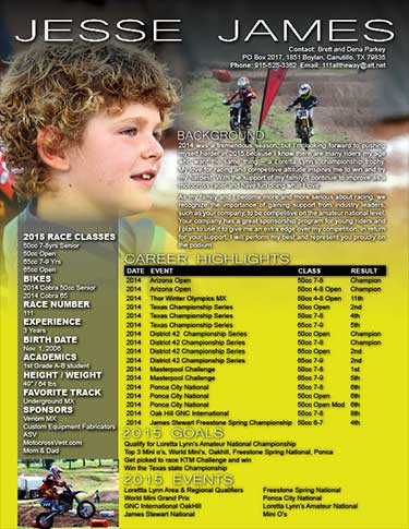 Kids MX Resume