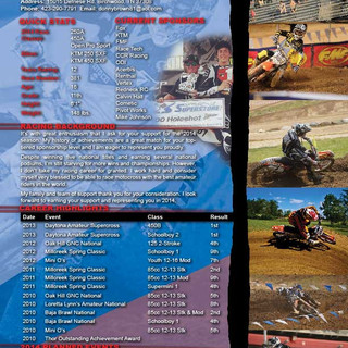 MX Race Resume