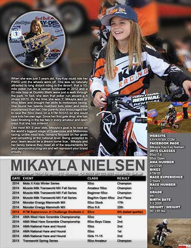 Girls Motocross Resume
