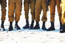The soldier's footwear of the Israeli ar