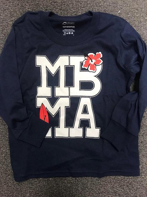 MBMA Logo- Youth Navy Long Sleeve