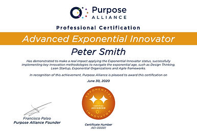 Advanced Exponential Innovator Certifica