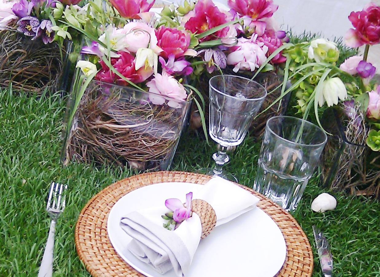 Fellner Blumen Hochzeitsfloristik Tischgestecke