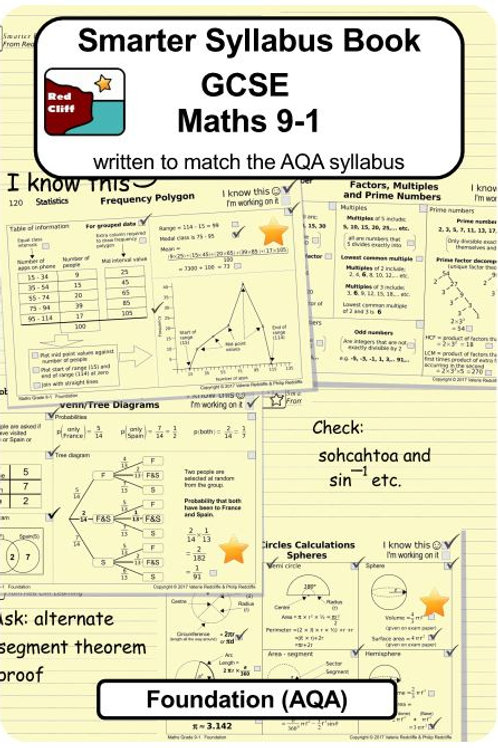 Foundation Syllabus Book (choose from AQA, Edexcel or OCR)