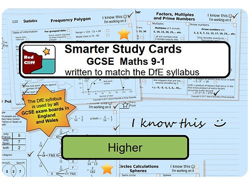 Smarter Study Bound Cards (choose from Higher or Foundation)