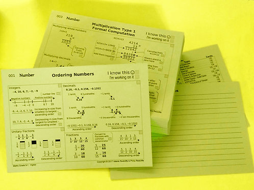 Foundation Revision Cards - Loose (choose from AQA, Edexcel or OCR)