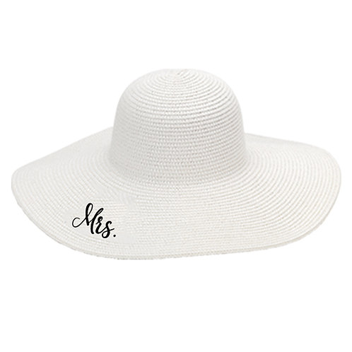 Monogram Bride Floppy Hats