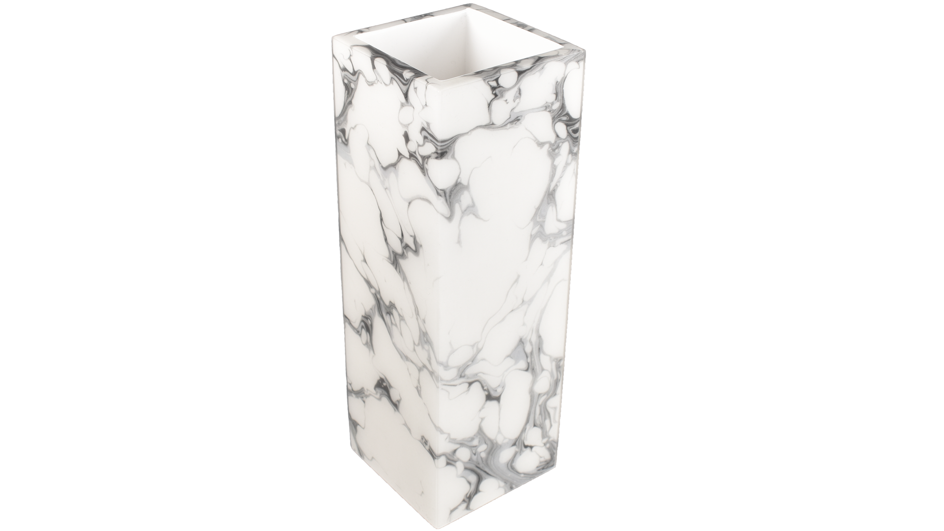 "Cream Carrara- 12"" Tall Flower Vase"