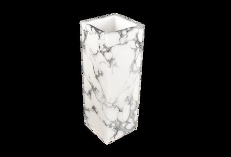 "Cream Carrara- 12"" Tall Flower Vase"