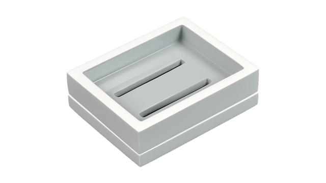 Cool Gray White Trim- Soap Dish