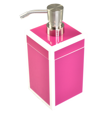 Hot Pink with White - Lotion Pump
