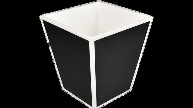 Black with White Trim- Waste Basket