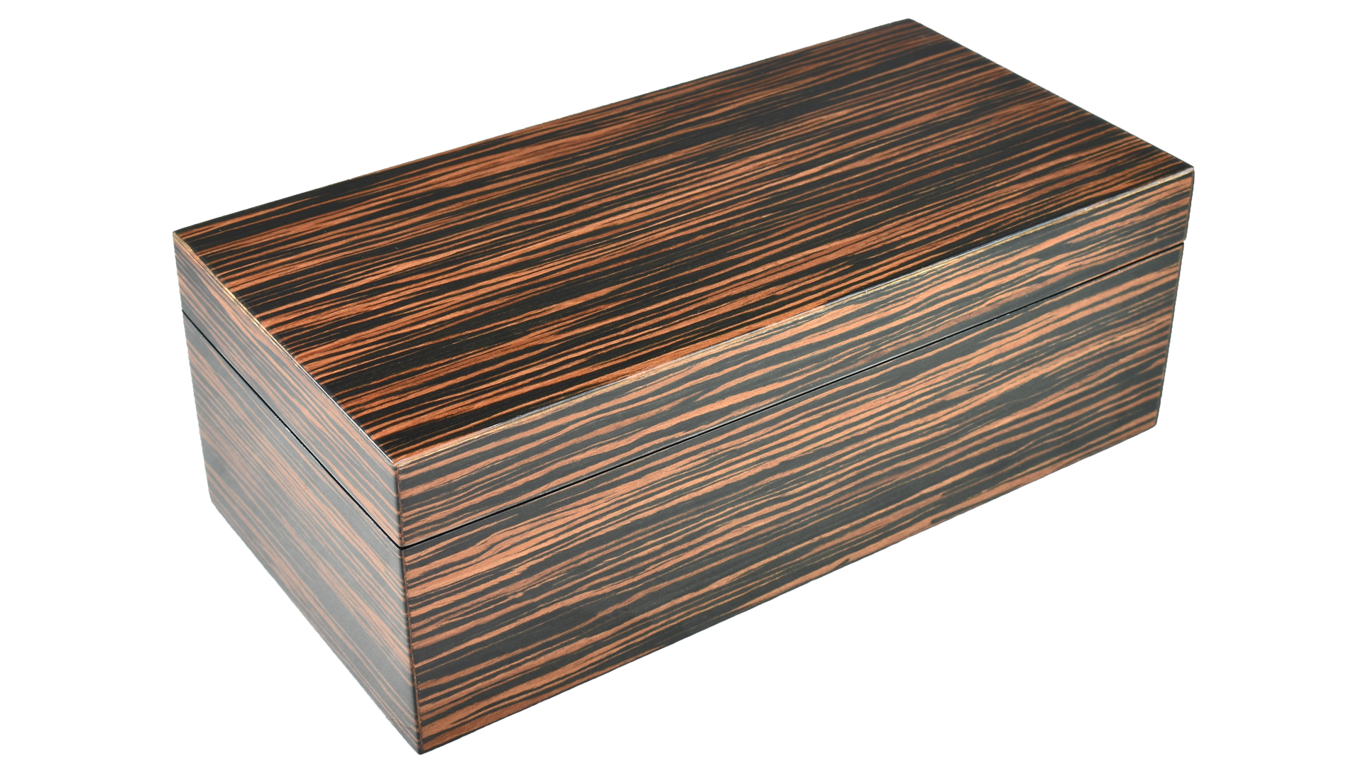 Macassar Ebony- Hinged Box