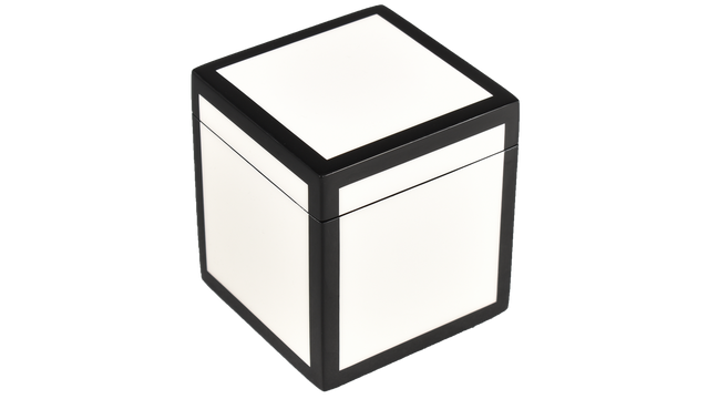 White with Black Trim- Q-Tip Box