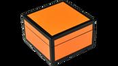 Orange Black Trim- Square Box