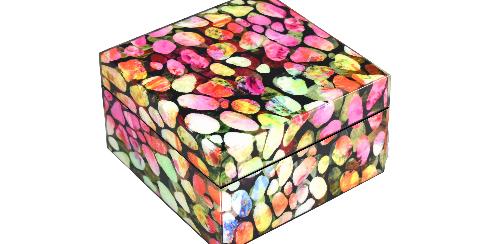Color Pebbles- Square Box