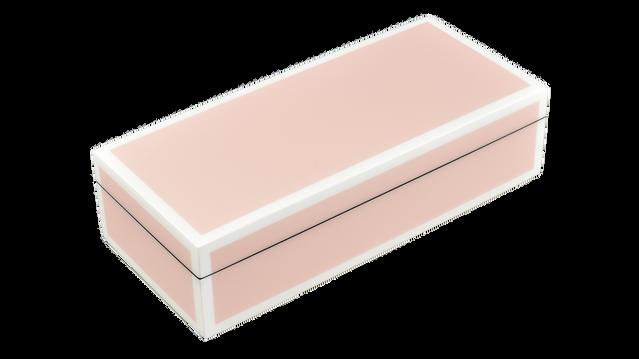 Paris Pink with White Trim- Pencil Box