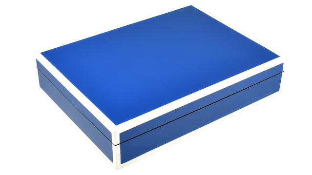 True Blue with White Trim- Stationery Box