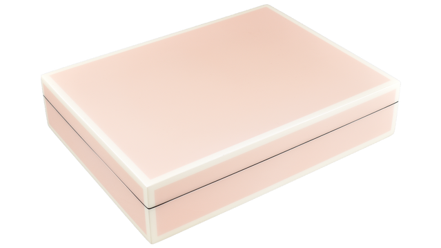 Paris Pink with White Trim- Stationary Box