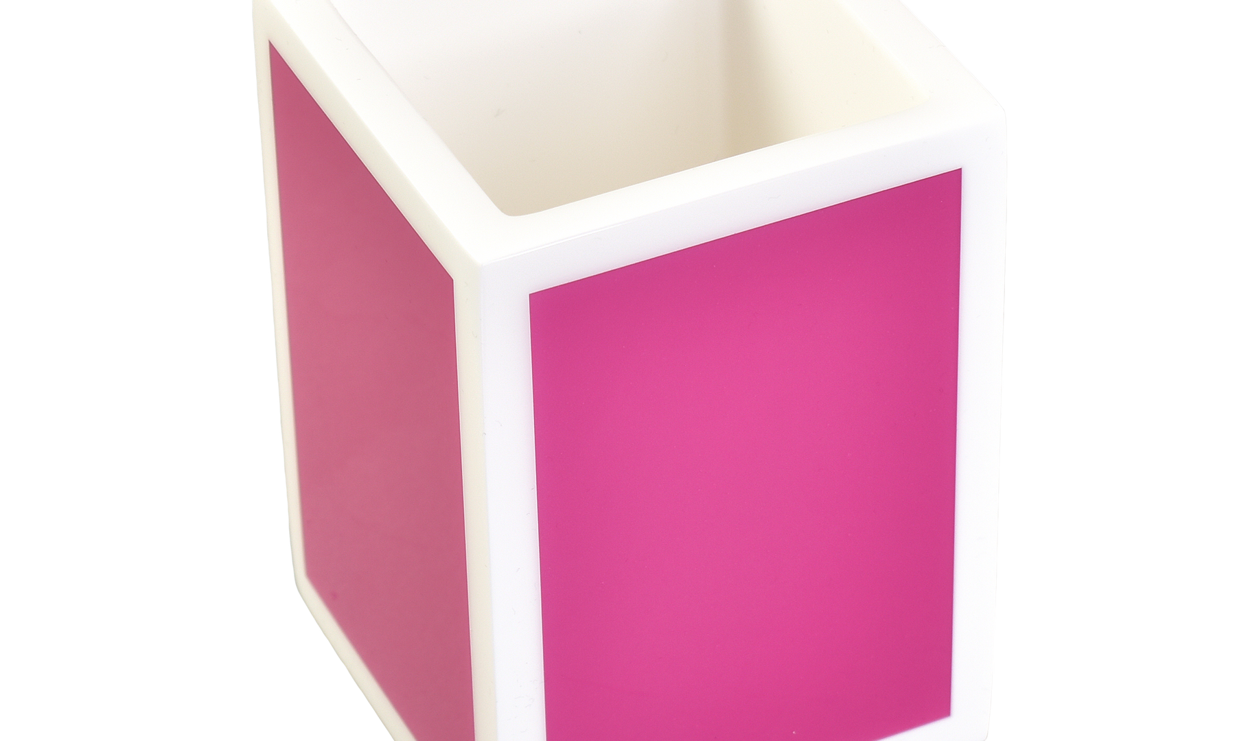 Hot Pink with White- Brush Cup