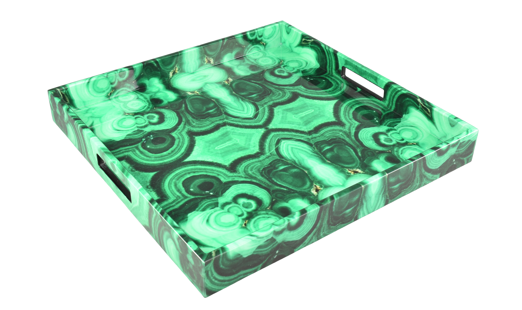 "Malachite - 16"" Square Tray"
