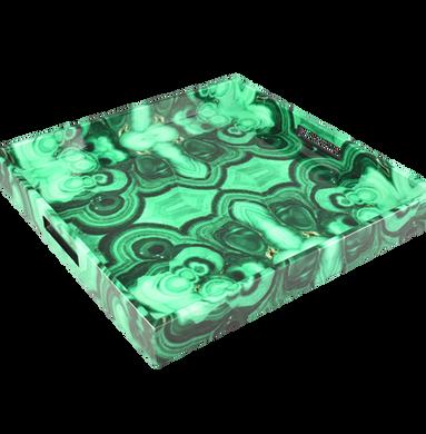 """Malachite - 16"""" Square Tray"""
