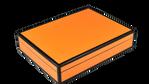 Orange Black Trim- Stationery Box