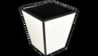 White with Black Trim- Waste Basket