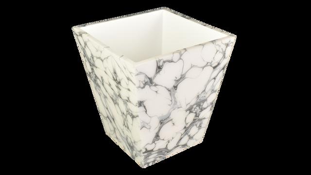 Cream Carrara- Wastebasket