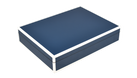 Five Side Navy Blue with White - Stationary Box